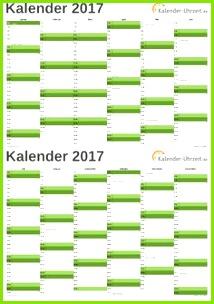 Kalender 2017 Kalender Vorlagen Uhrzeiten Feiertag Blau