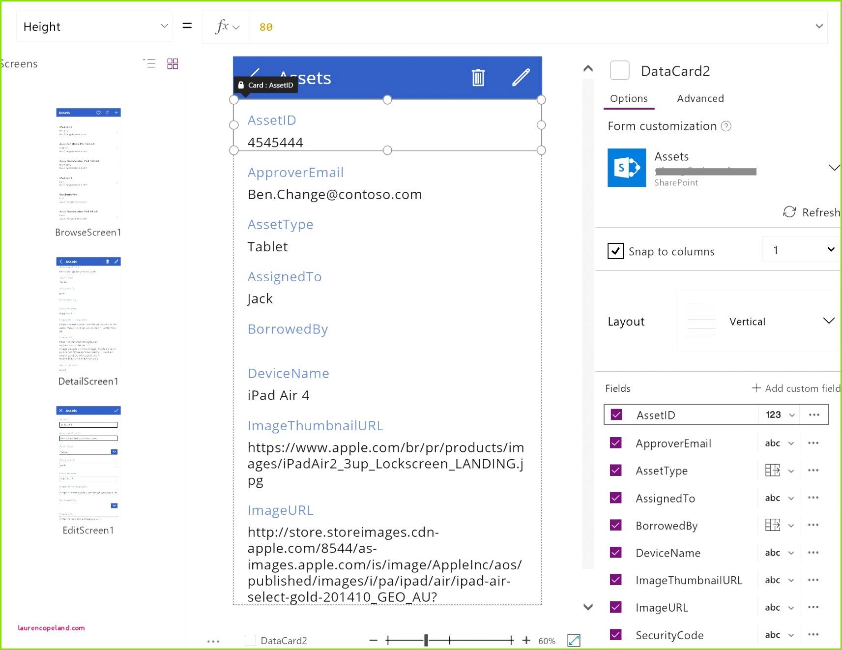 T Konten Vorlage Excel Grundlegendes Zu Canvas App formularen Powerapps