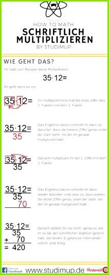 Schriftlich rechnen einfach im Spickzettel von Studimup erklärt Hier schriftliche Multiplikation
