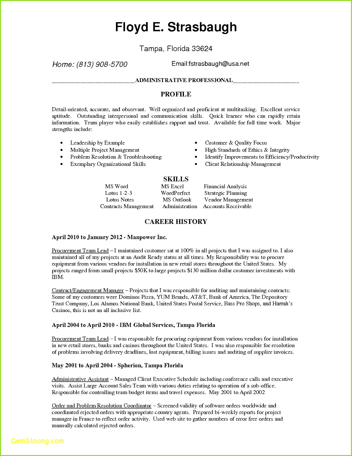 Executive Cover Letter Template Word Babysitting Resume Templates New Executive Resume Templates Word Od Specialist