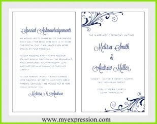 Hochzeit Programm Vorlage – Windung Polka Navy Instant Download bearbeitbaren MS Word Datei