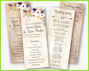 Blumen Hochzeit Programm Vorlage Boho Hochzeit Zeremonie Programm Reihenfolge der Zeremonie DIY Hochzeitsprogramm ZWEI HINTERGRüNDE rustikale Boho