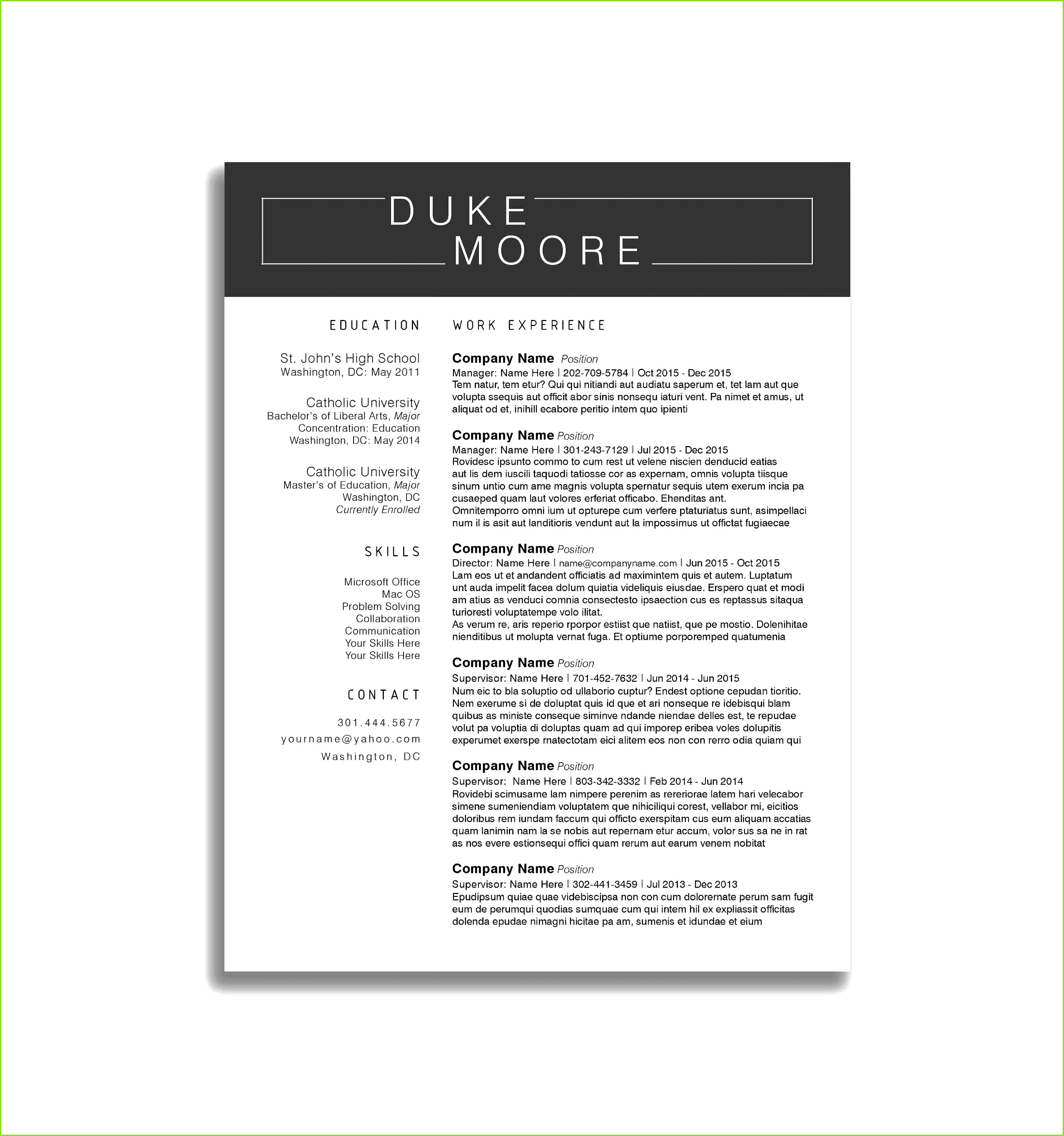Resume Template Business Manager New Receipt Book Walgreens Examples Sales Job Resumes Bsw Resume 0d