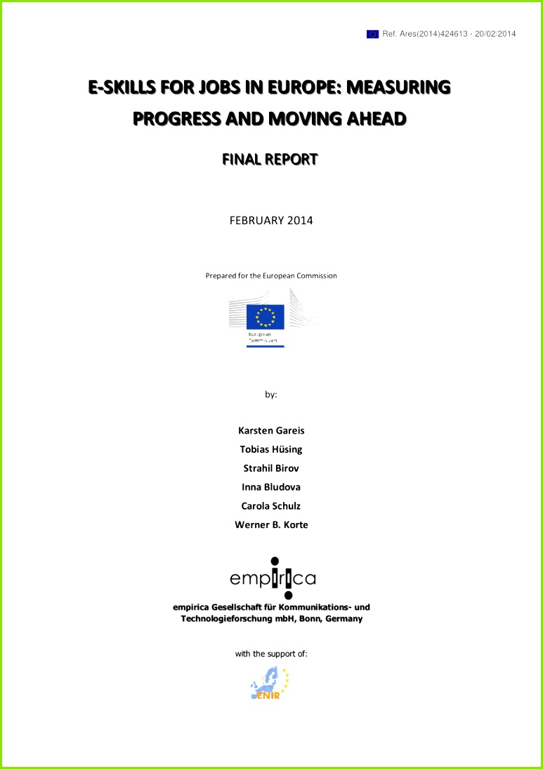 PDF e Skills for Jobs in Europe – Measuring Progress and Moving Ahead Final Report