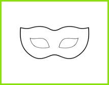 Venezianische Maske Vorlage