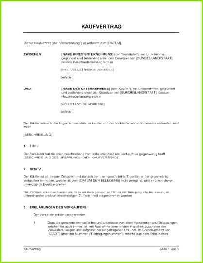 Kaufvertrag Immobilie Vorlagen und Muster