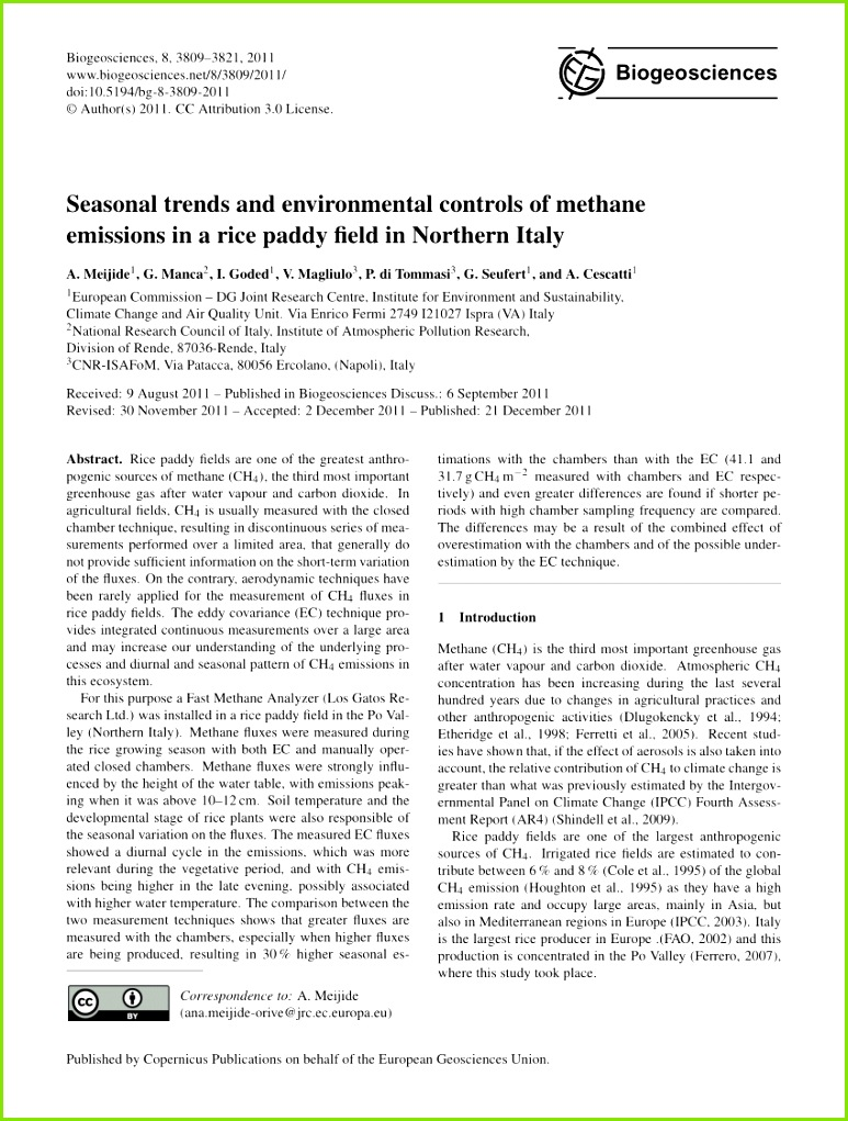 PDF Methane production oxidation and mitigation A mechanistic understanding and prehensive evaluation of influencing factors