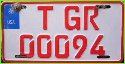 Temporäres Kennzeichen der US Streitkräfte GR=Grafenwöhr