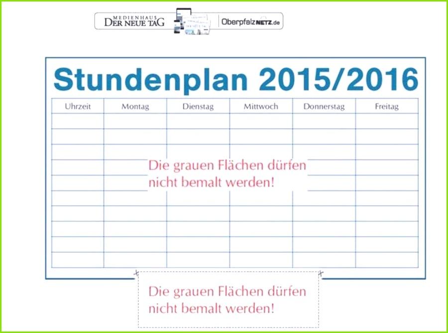 Wochenplan Kindergarten Vorlage Best Stundenplan Vorlage