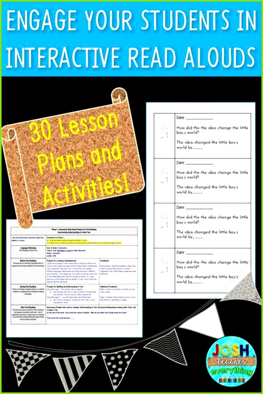 Engage and add rigor to your interactive read alouds with lesson plans for some of the