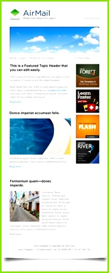 Airmail HTML Email Template Newsletter Vorlagen Newsletter design Luftpost E Mail Newsletter