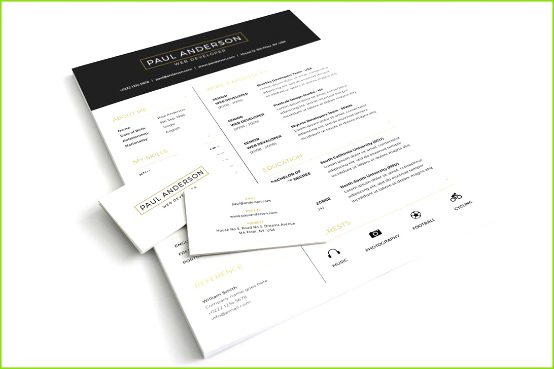 It s a fully editable PSD freebie where you can add your own resume details and color binations