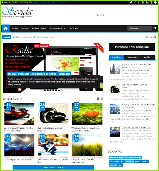 professional responsive magazine blogger template