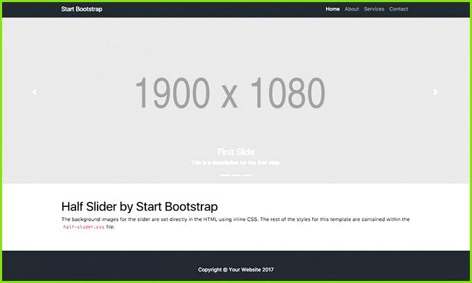 Half Page Bootstrap Image Carousel Slider