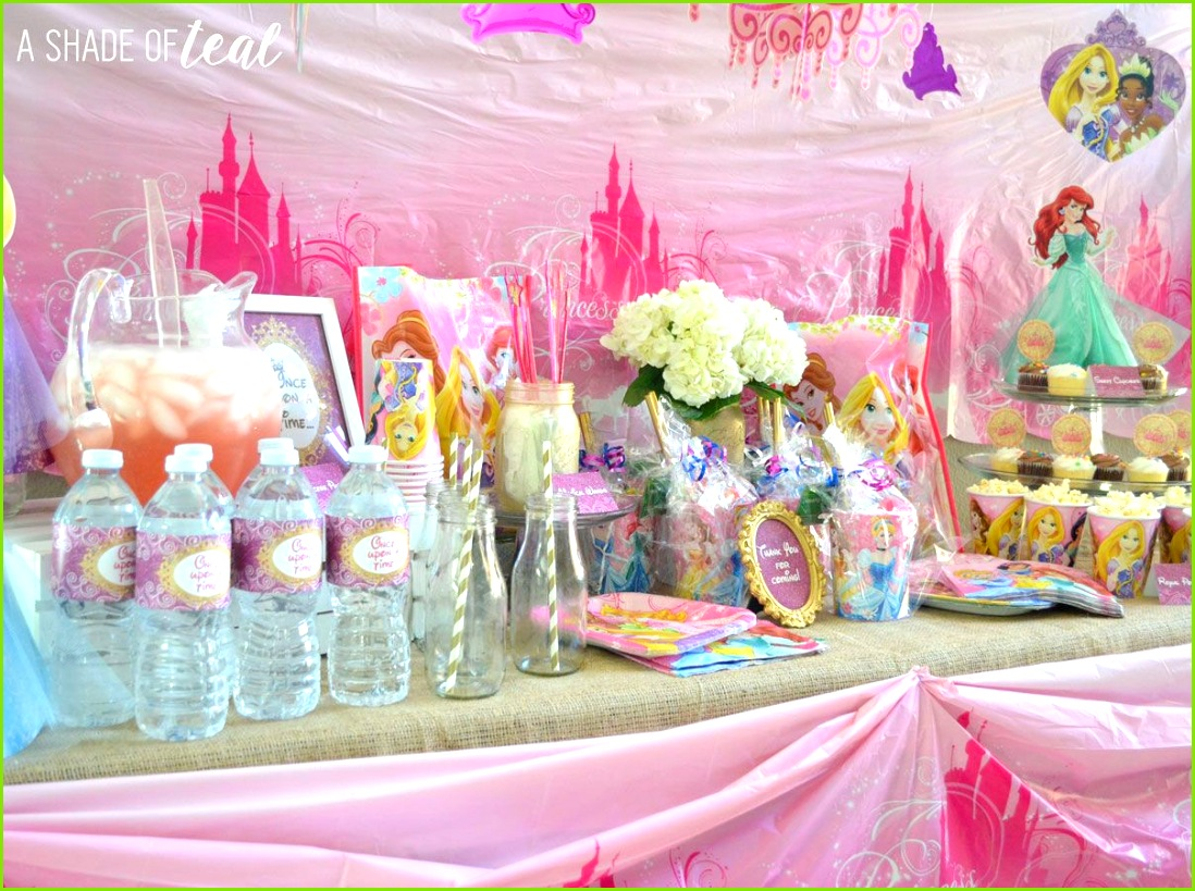 A Disney Princess Party on a Bud plus free Printables