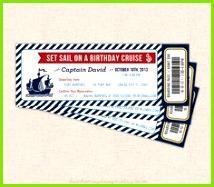 Nautische Bordkarte Einladung nautische Cruise Ticket nautische Geburtstagsparty druckbare einladen erhältlich