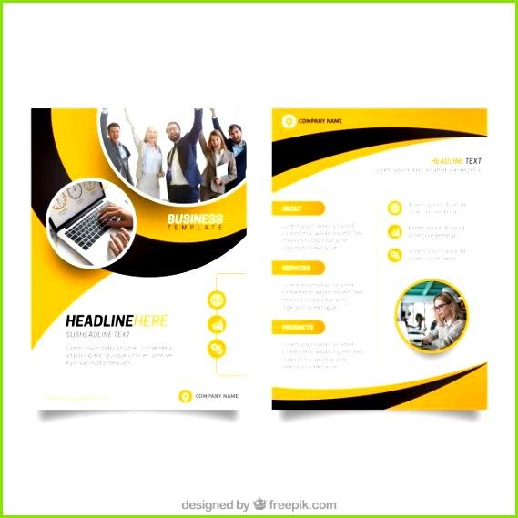 Plantilla de flyer de negocios amarillo y negro Vector Gratis