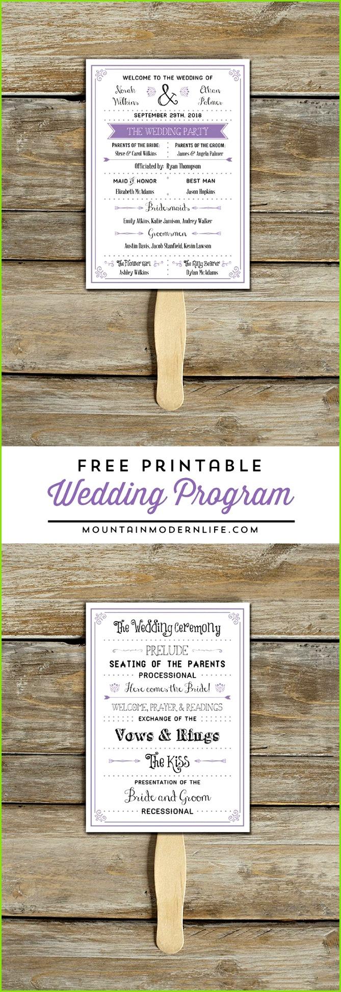 FREE Printable Wedding Program SilberhochzeitKostenlose Druckbare