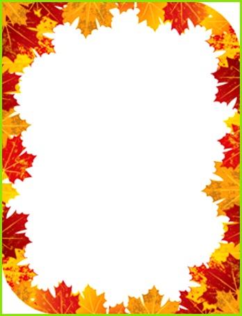 Free Printable Fall Border Templates