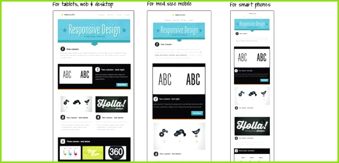Responsive Email Template from Email on Acid free predesigned