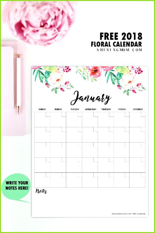 16 DIY Organisationsprojekte 2018 Kostenlose druckbare Kalender Teil 2