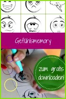 Gefühle einordnen Memory Freebie im Herbst gratis Download