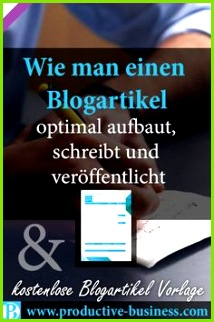 Die Basis für jeden guten Blogartikel ist Vor und Nachbereitung Erfahrene Blogger können