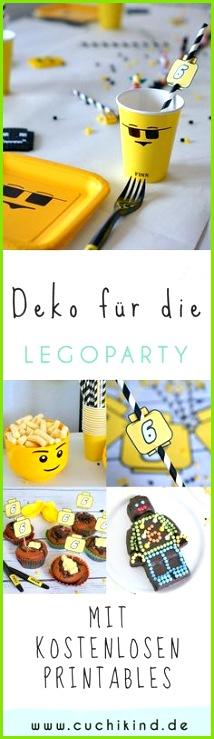 Alles für Legoparty mit Printables Dekoration für Legoparty mit kostenlosen Vorlagen