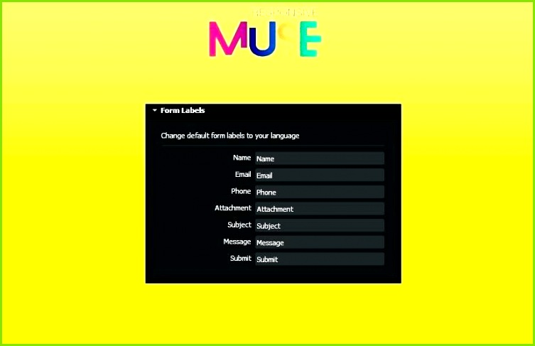 free muse cc templates upload form gratis