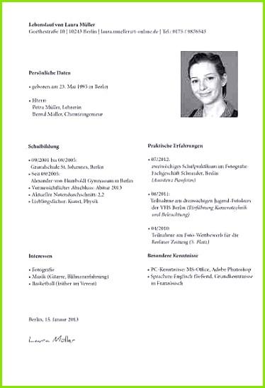Niedlich Lebenslauf Ausbildung Abschnitt Beispiel Some Hochschule