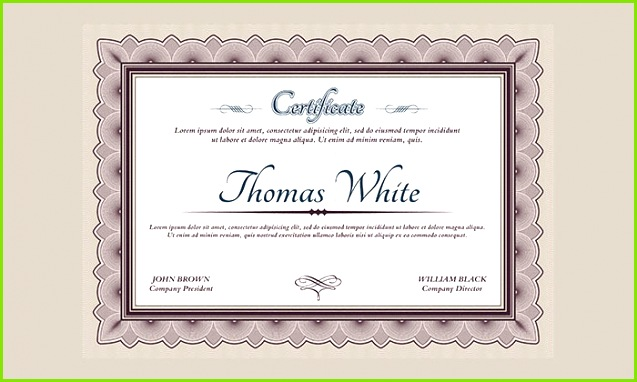 Certificate PSD Template