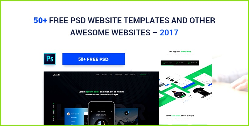 50 Free PSD Website Templates For Corporate Education LMS Blog Portfolio and Other Awesome Websites – 2017