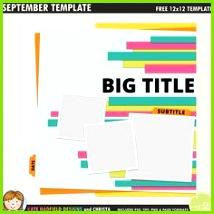 Free digital scrapbooking template