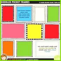 Scrapbook Templates Scrapbook Sketches Scrapbook Pages Doodle Frames Frame Template Pocket