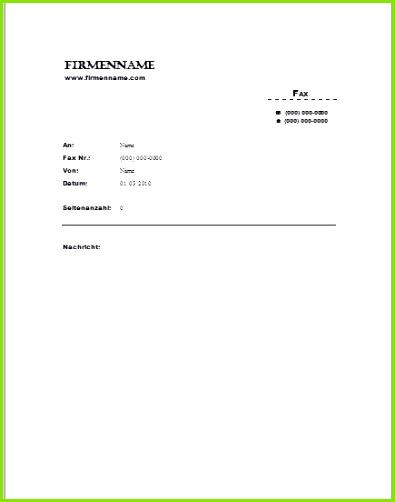 Word Faxvorlagen zum herunterladen Atemberaubend Ms Word Fax Deckblatt Vorlage