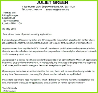 Cover Letter for a Clerical ficer Job Seekers Forums