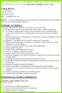 Hair Stylist Resume Example Inspirational Cosmetology Resume Samples Free Templates Sample Hair Stylist Resume