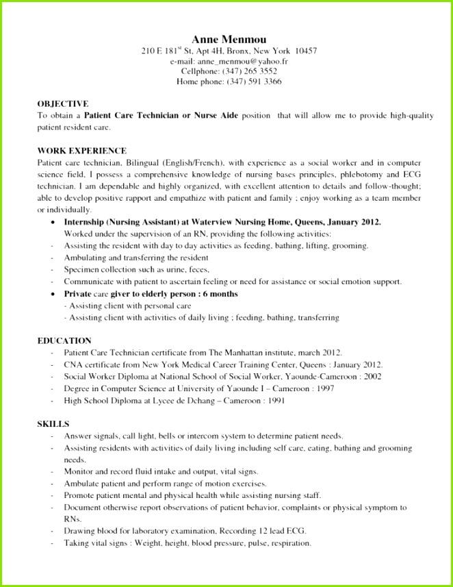 Patient Care Technician Resume Examples 34 Recent Dialysis Technician Resume Techtrontechnologies 24 Download Patient Care