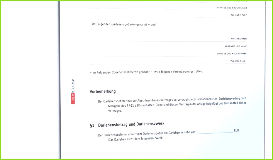 Niedlich Privatkreditvertrag Vorlage Galerie Dokumentationsvorlage Großzügig Kreditvereinbarung