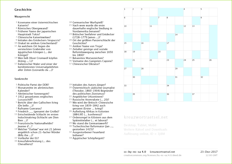 Die Besten Kreuzworträtsel Vorlage