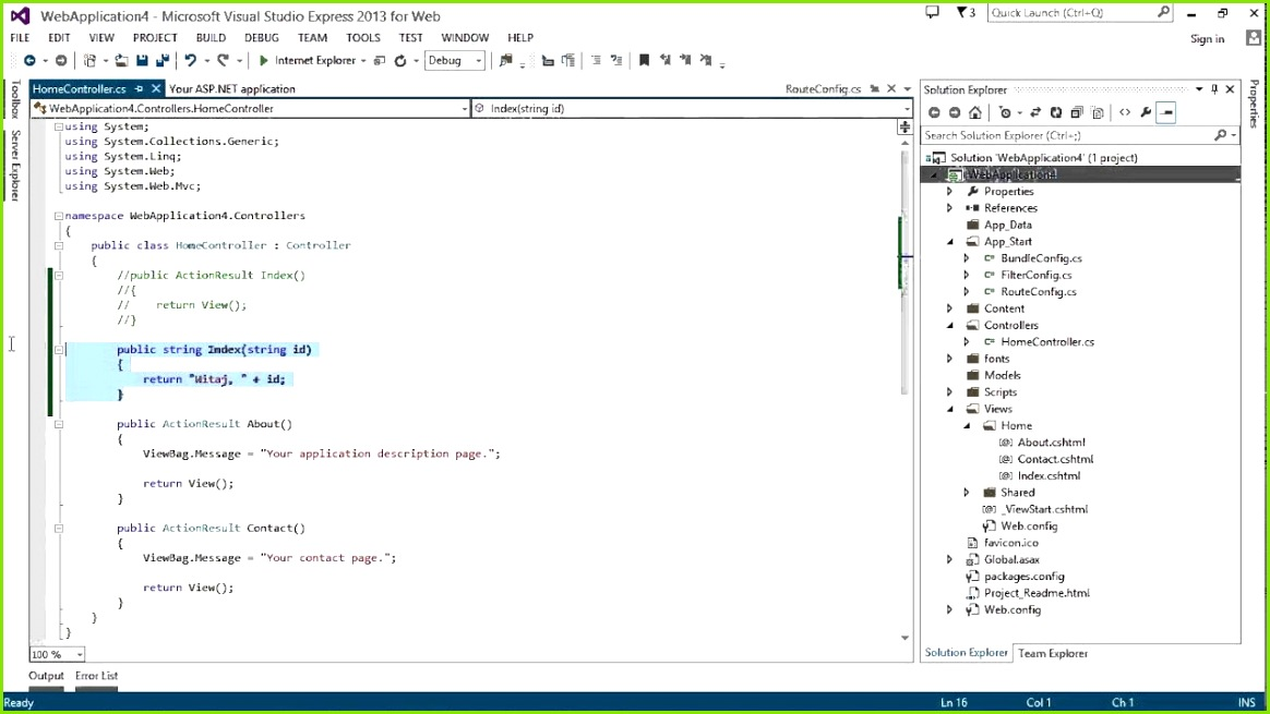 Kurs Podstawy ASP NET MVC Pierwsze kroki w ASP NET MVC od eduweb