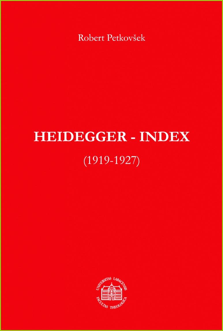 PDF Heidegger Index 1919 1927