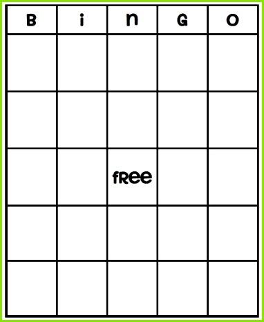 49 Printable Bingo Card Templates VBS