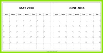 Calendar for May June 2018 Printable Printable Leere Kalender Haushaltsbud kalkulation Bud Kalkulationstabelle Vorlage