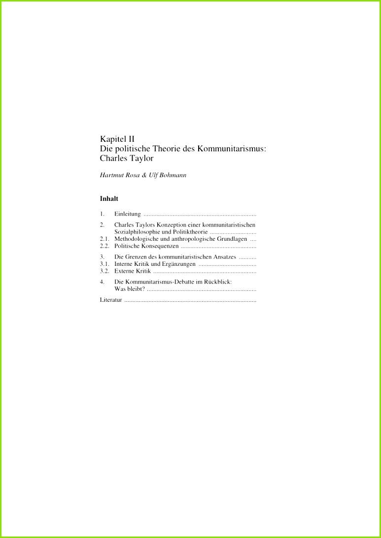 PDF Die politische Theorie des Kommunitarismus Charles Taylor