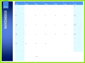 November 2016 Kalendervorlage Druckbare Kalendervorlagen druckbare kalendervorlage kalendervorlagen november