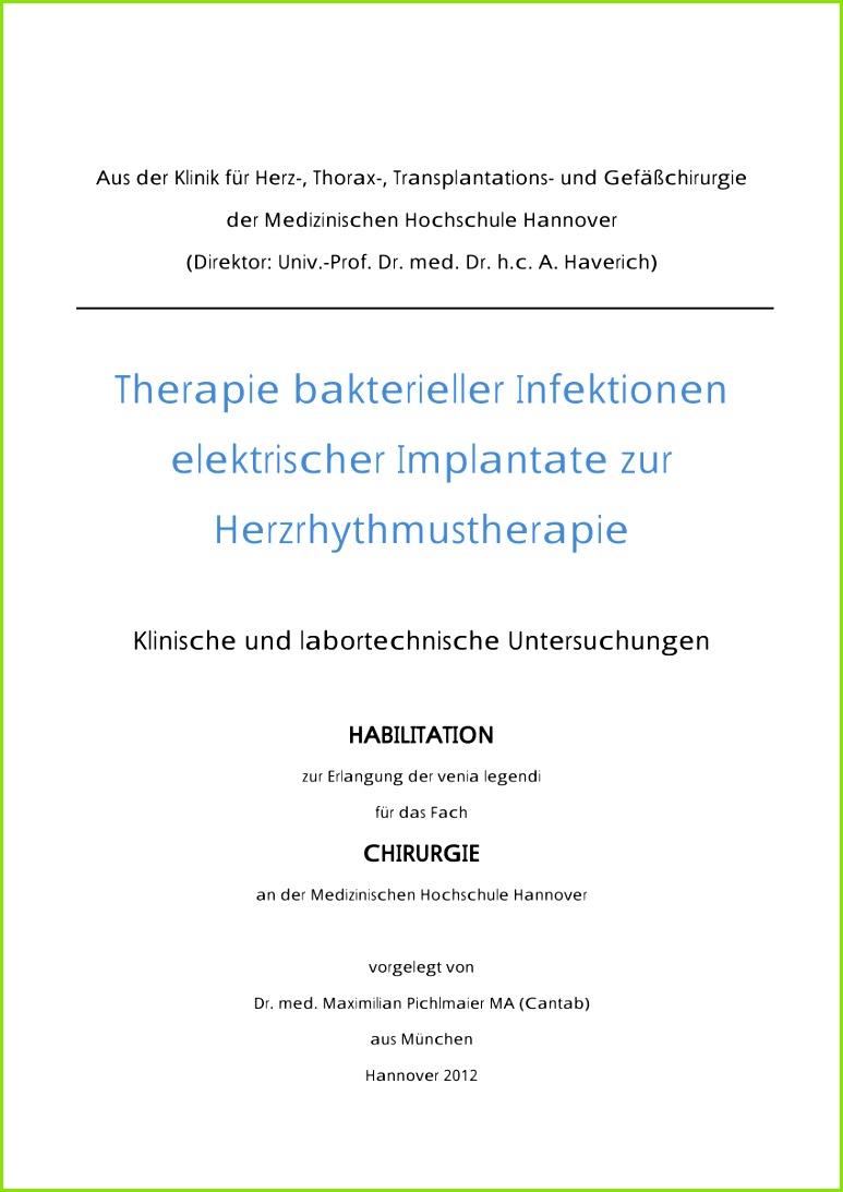 PDF Therapie bakterieller Infektionen elektrischer Implantate zur Herzrhythmustherapie