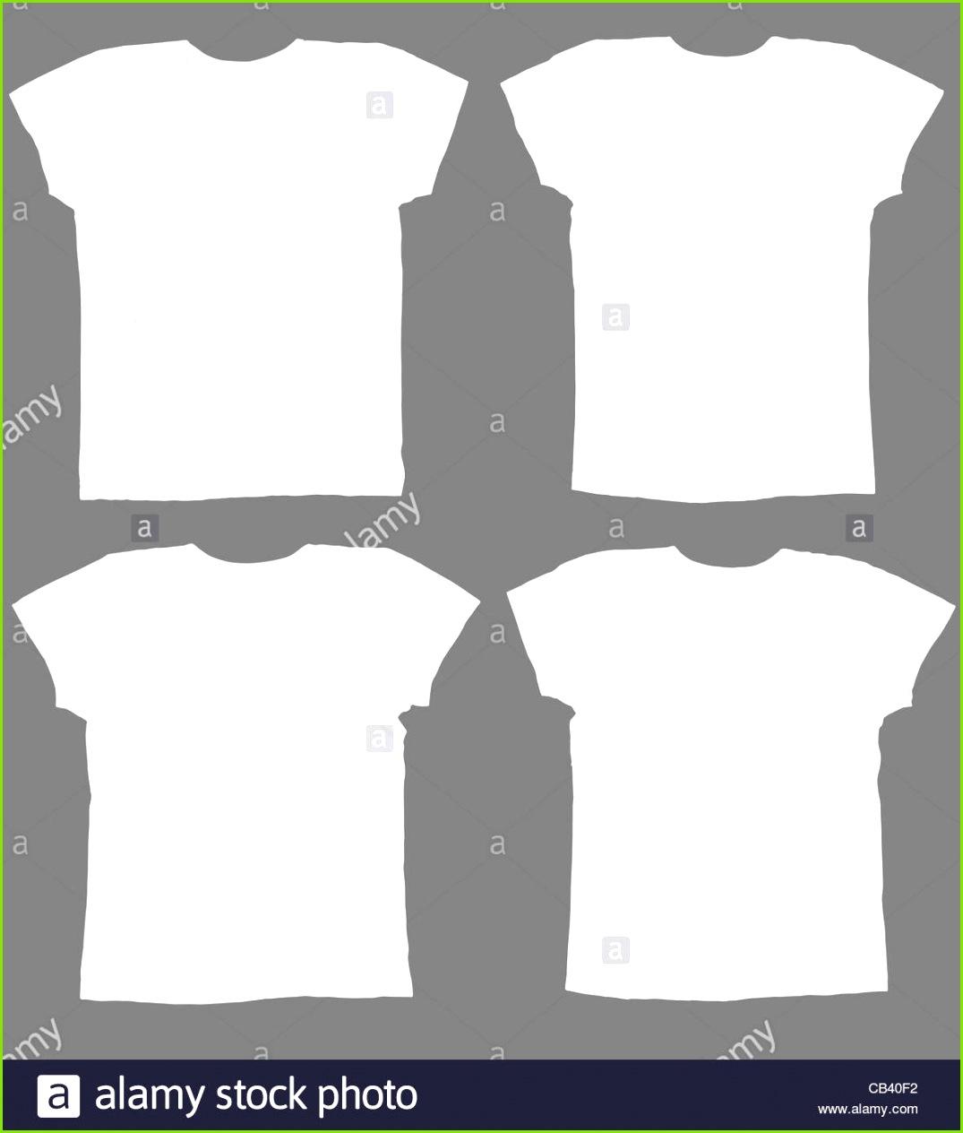 Leere weiße T shirts Vorder und Rückseite Stockbild