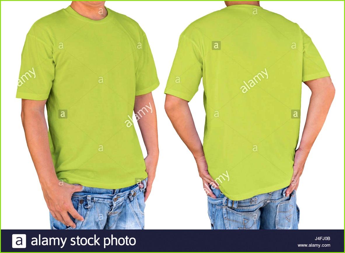 Mann mit leeren Sellerie T shirt mit Beschneidungspfad Vorder und Rückansicht Vorlage