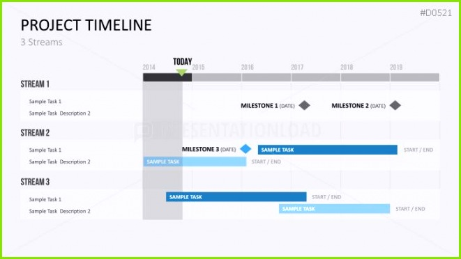 PowerPoint Timeline Template for Projects
